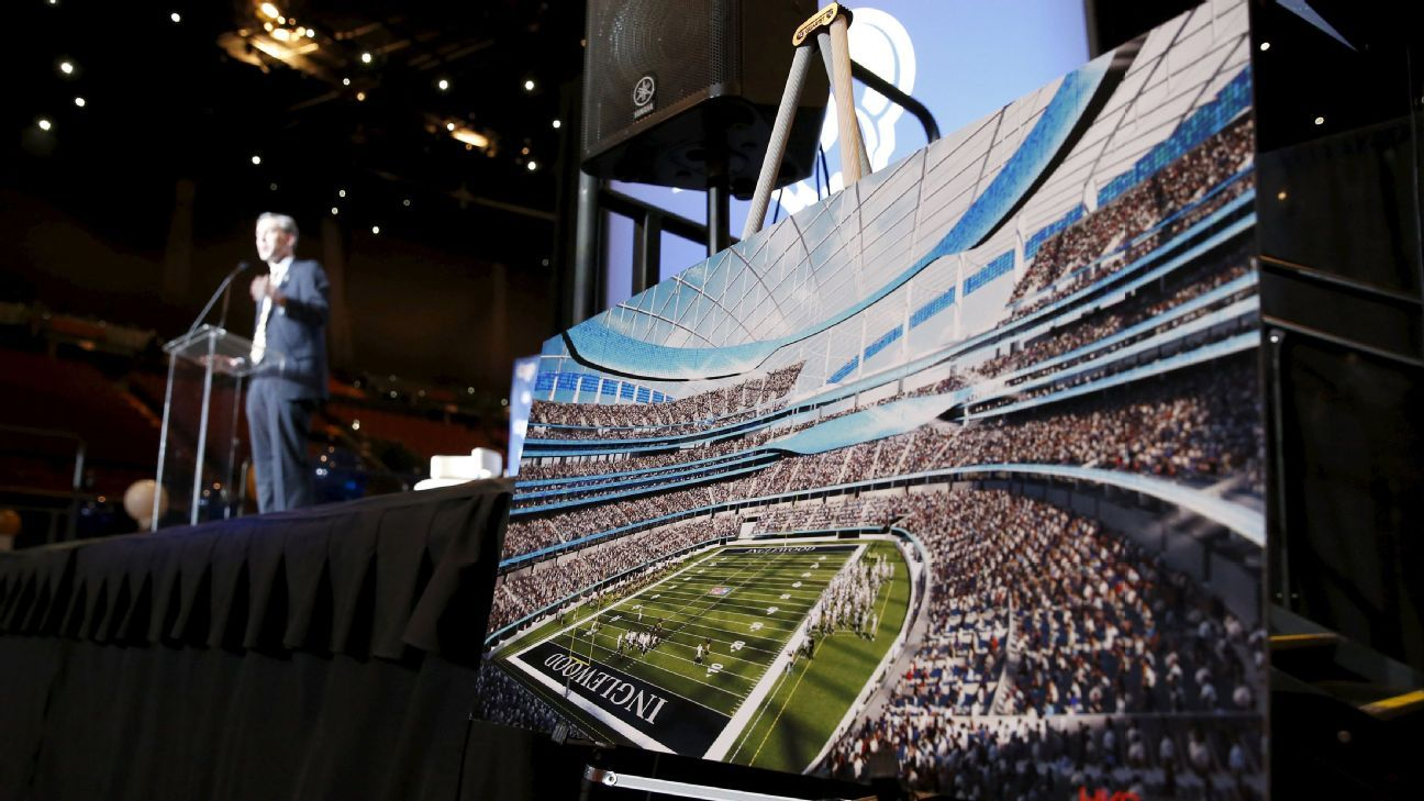 wholesale dealer 1811b 7f343 The new stadium for the Chargers and Rams in Los Angeles will be delayed 1  year until 2020