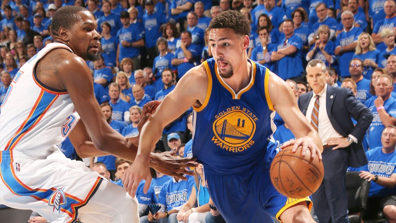 40c6d9246d8 Klay Thompson of Golden State Warriors won t  sacrifice  after addition of  Kevin Durant