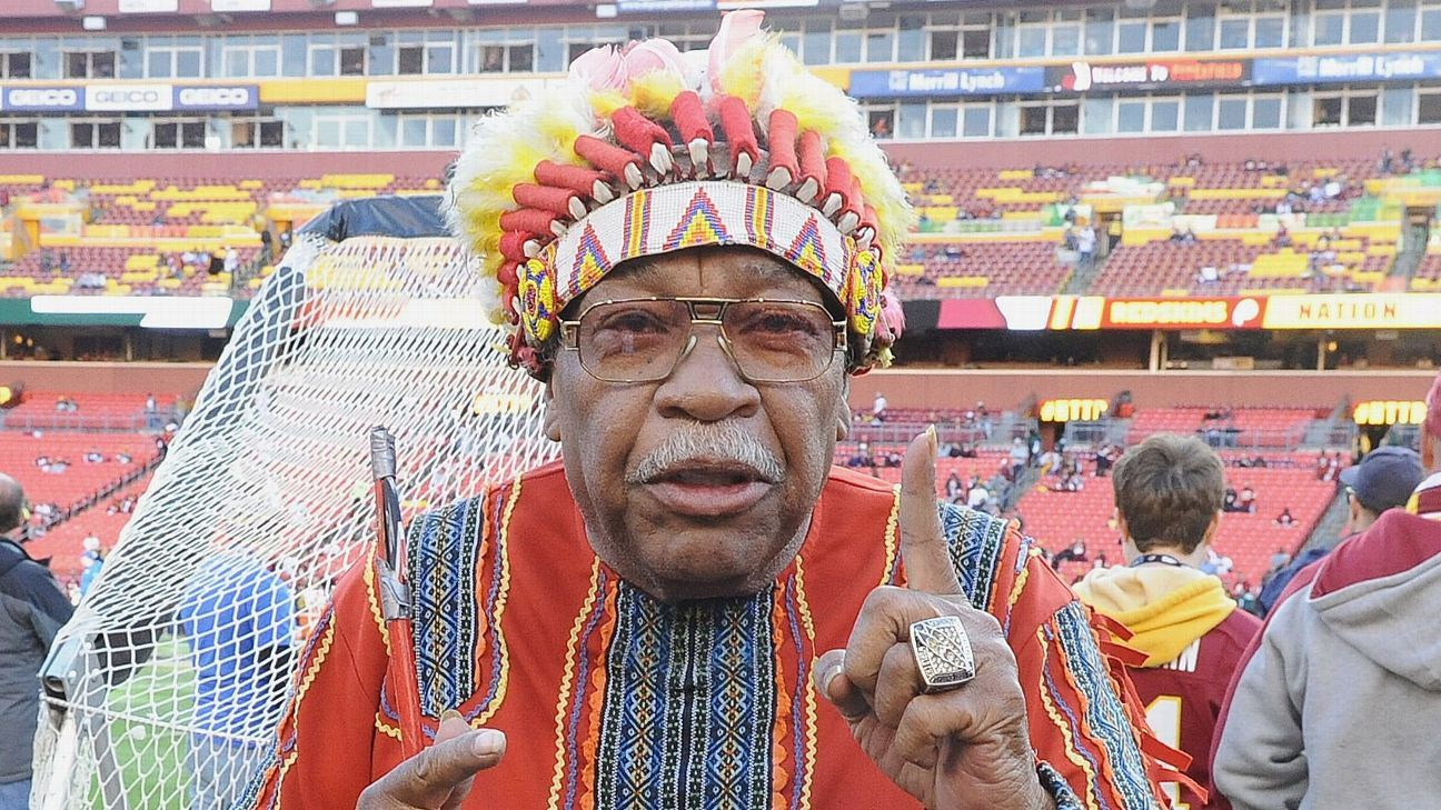 f291bfbd Washington Redskins superfan Chief Zee passes away at age 75 ...