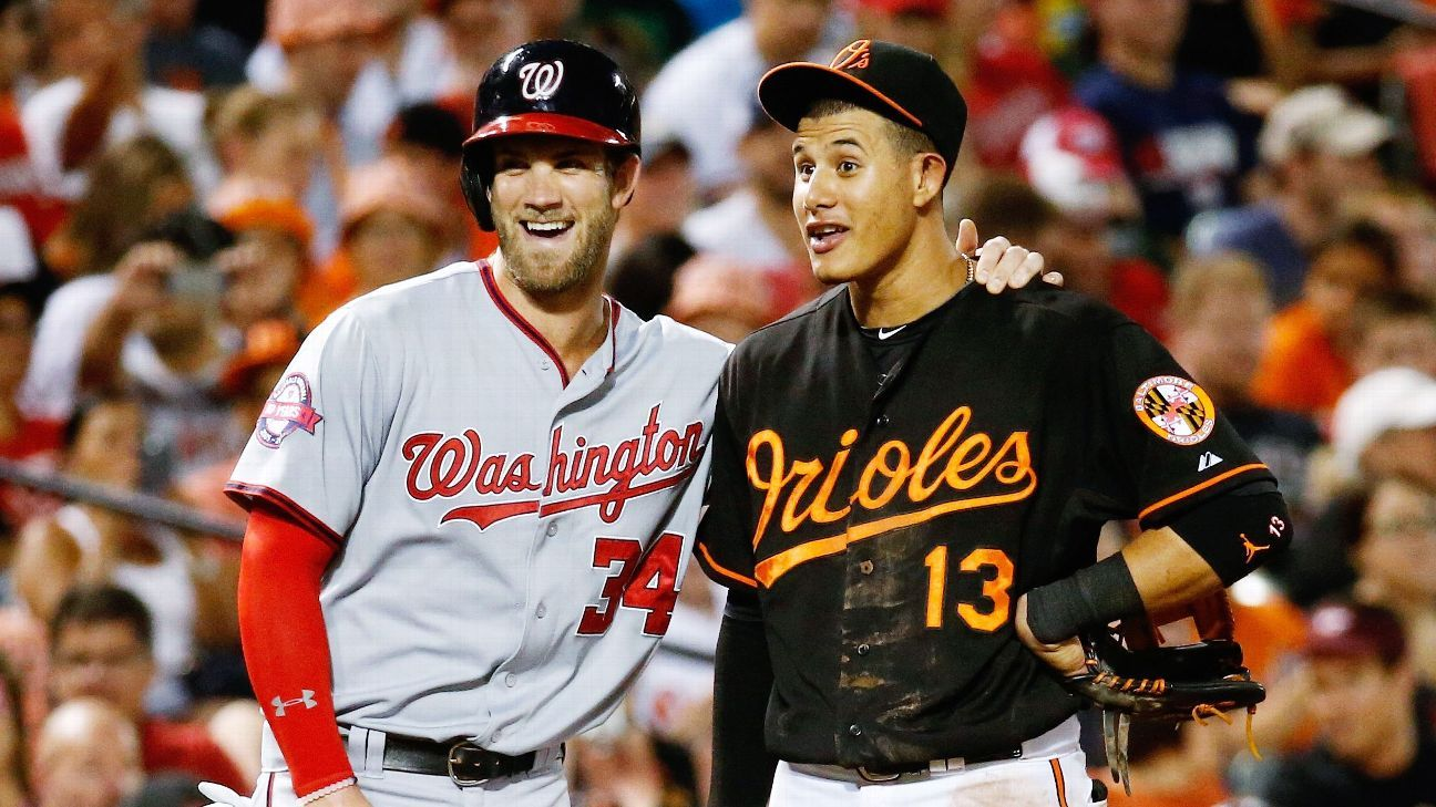 Image result for bryce harper manny machado padres