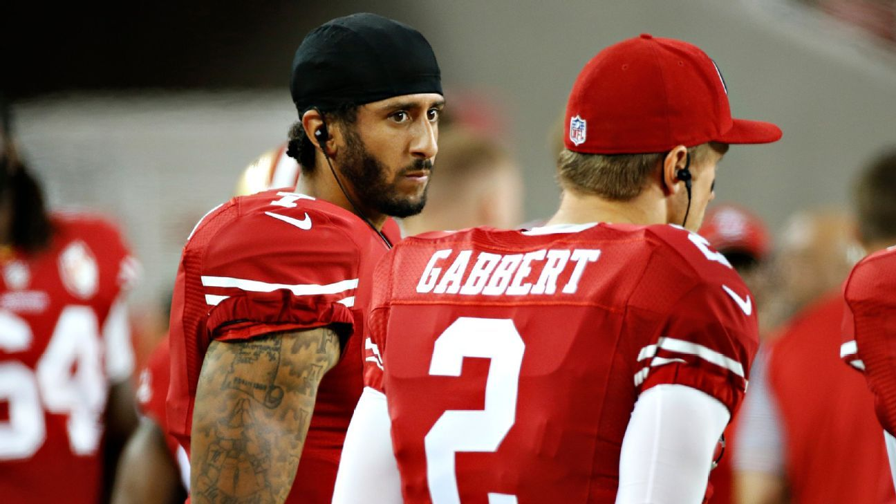 146dade7476 Transcript of Colin Kaepernick s comments about sitting during anthem - San  Francisco 49ers Blog- ESPN