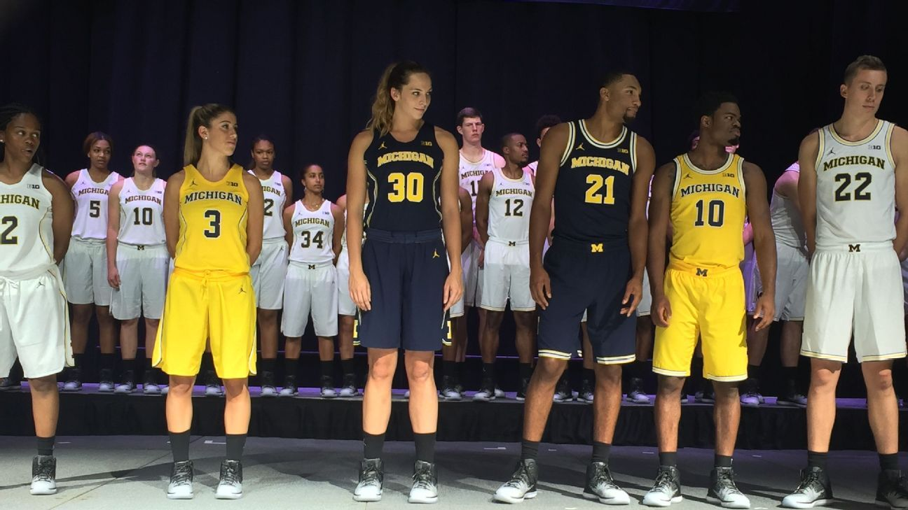 newest collection 6a4fe 5acc8 Michigan Wolverines introduce new Jordan uniforms with style - Men s  College Basketball Blog- ESPN