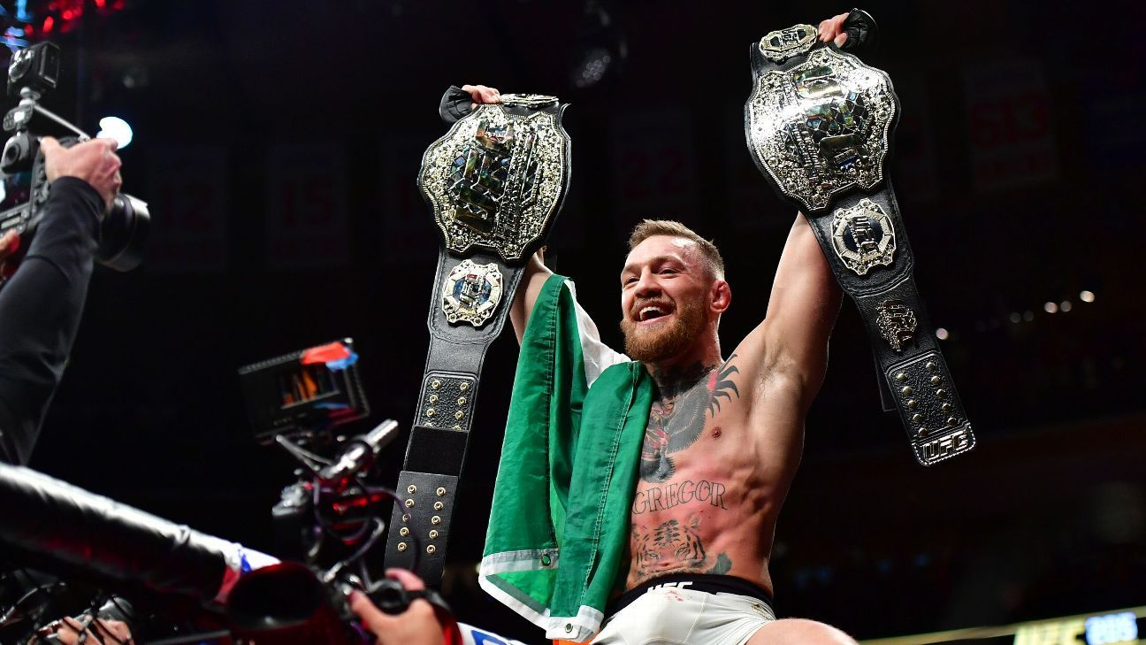 UFC says Conor McGregor has vacated featherweight title