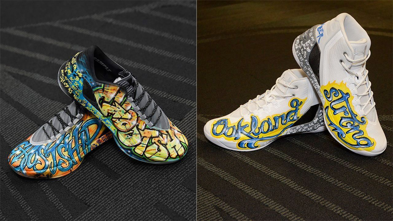 279a85ffe9e5 Golden State Warriors  Stephen Curry s shoes raise  30K for Oakland fire  relief fund
