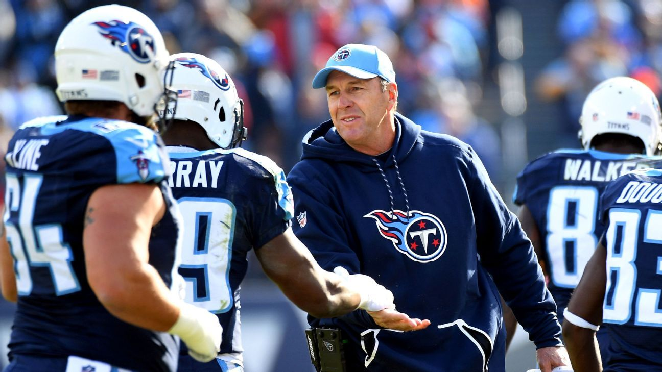 e26e3b2a2 Mike Mularkey of Tennessee Titans receives support from owner Amy Adams  Strunk