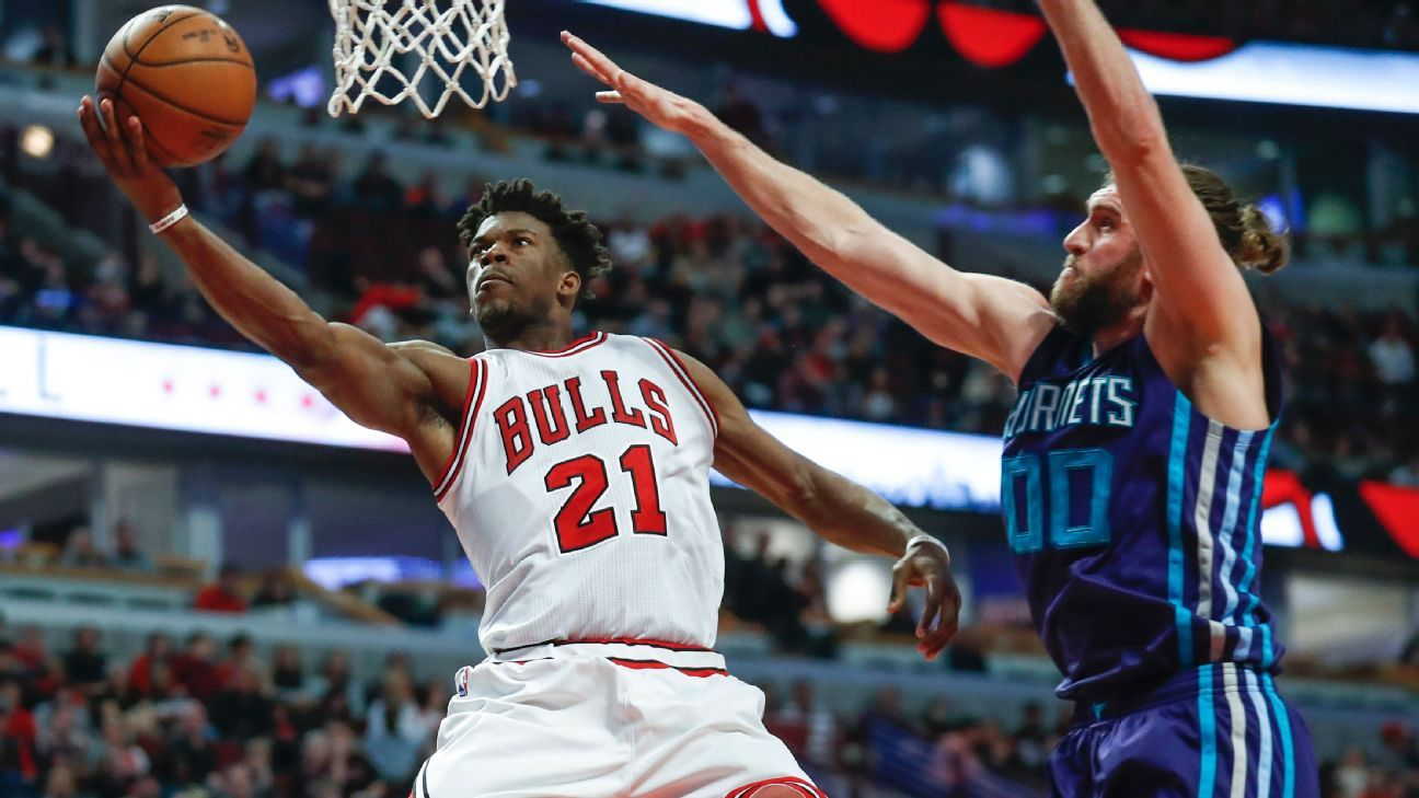 a9faeeaf2c2 NBA - Jimmy Butler producing at Michael Jordan-type level for Chicago Bulls  in 2016-17
