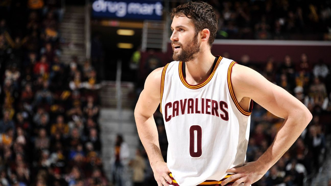 ed58c0395a0 Kevin Love of Cleveland Cavaliers tried to play through knee injury