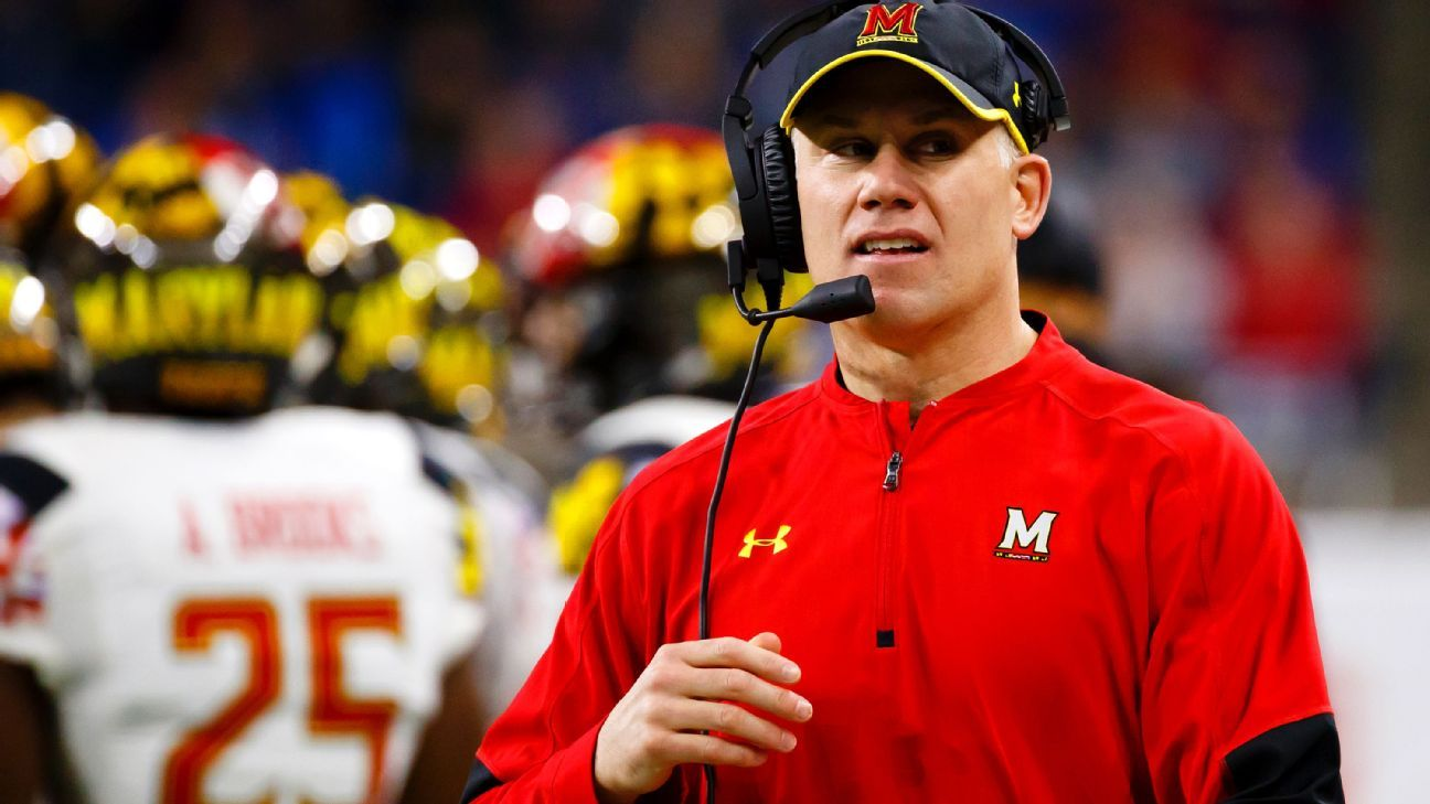c56f6a32e24b6 Maryland football coach DJ Durkin put on leave amid reports on toxic culture