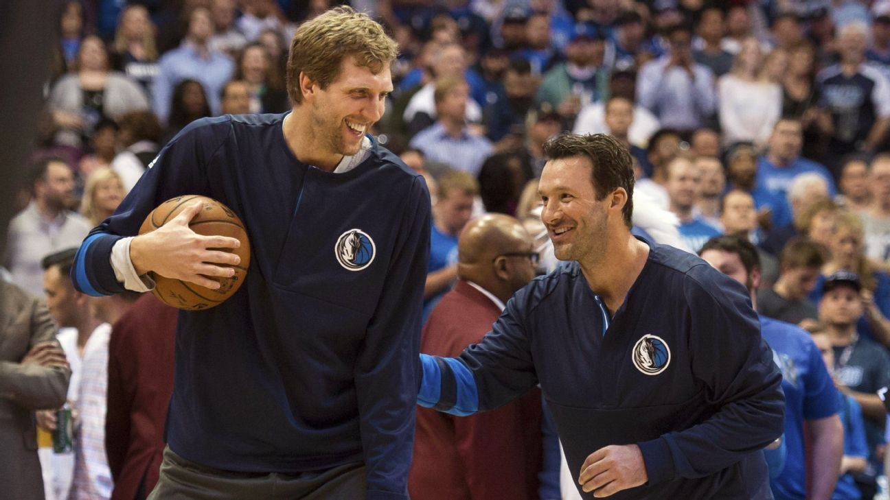 Four Cowboys, including the former quarterback, share their tales of playing alongside and watching the 7-footer in a football town that embraced Dirk.