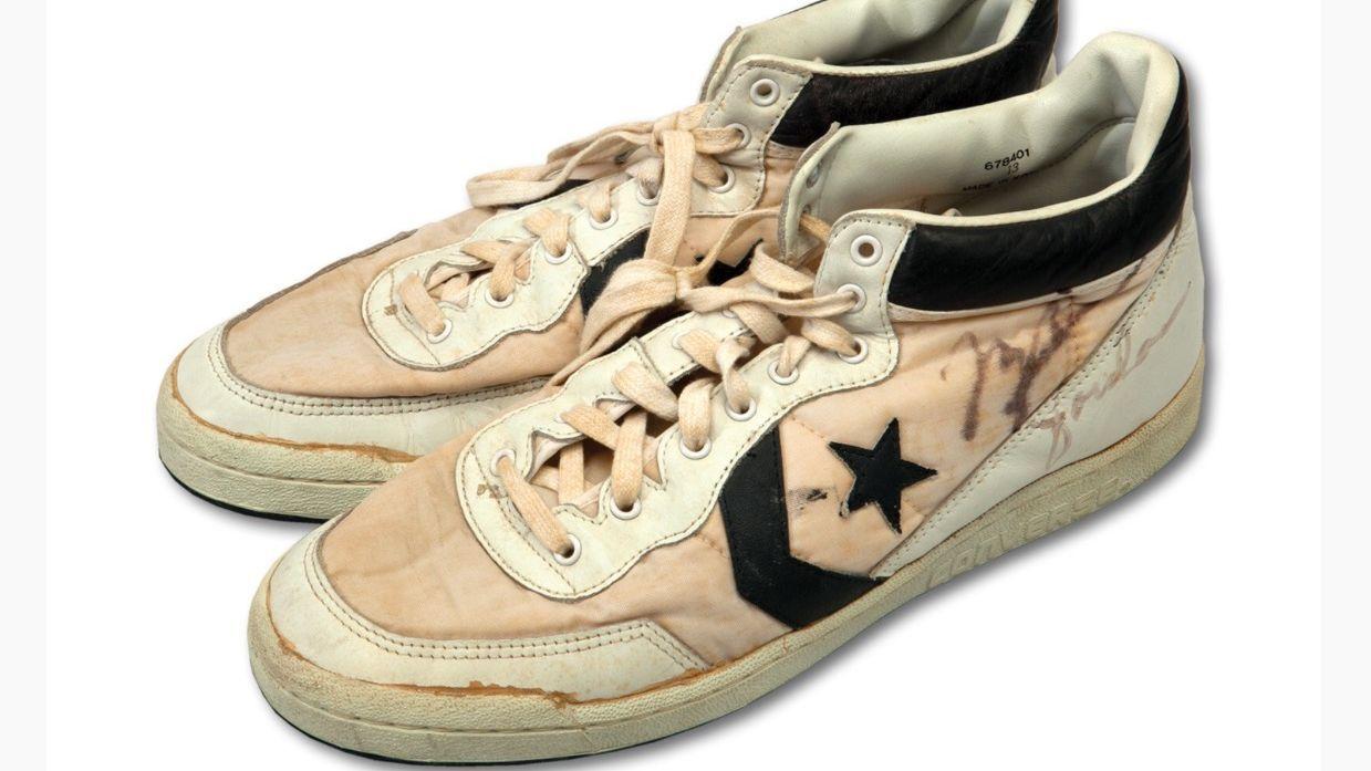 7aa99382a3a Pair of game-worn Michael Jordan sneakers breaks record