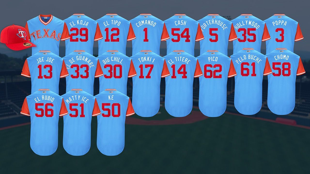 9bd88a05f SportsNation -- Which is your favorite Texas Rangers MLB Players Weekend  nickname