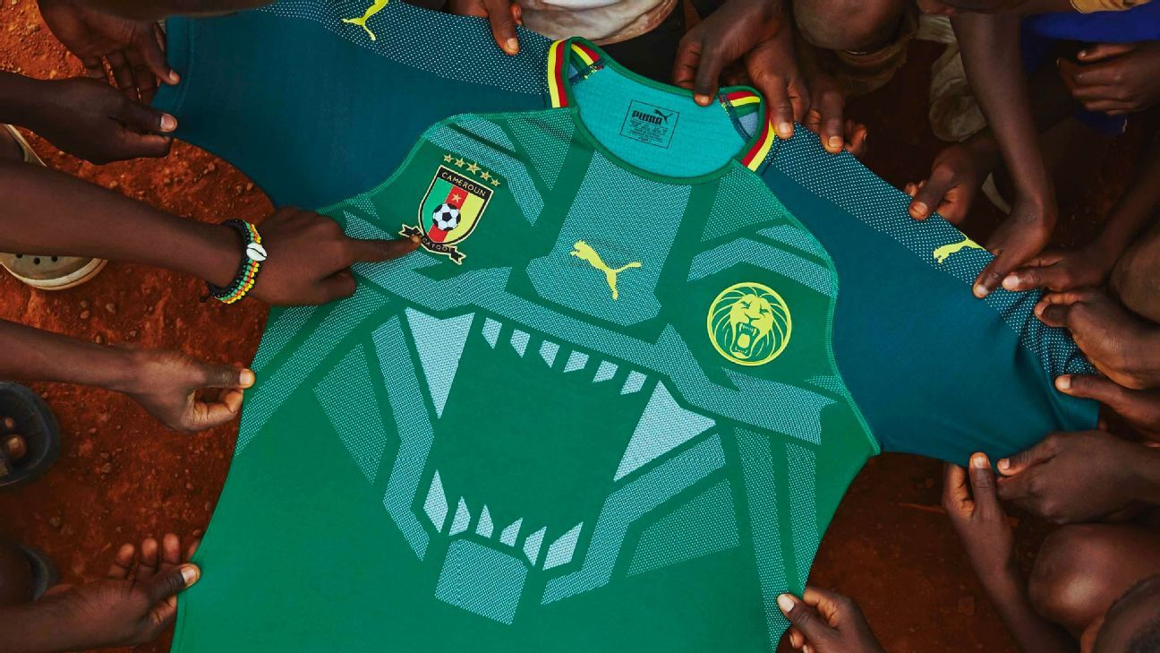 Cameroon s amazing new shirt features  roaring lion  across chest e907f0a0c