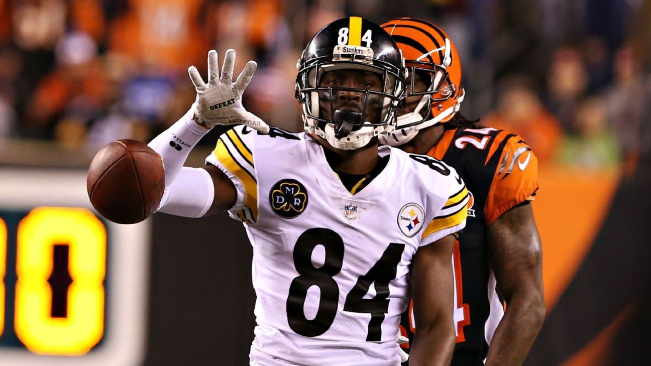 outlet store aa7b9 7a998 Vile hits mar Pittsburgh Steelers' win; Antonio Brown cites ...