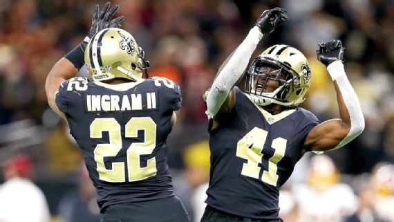 Mark Ingram et Alvin Kamara