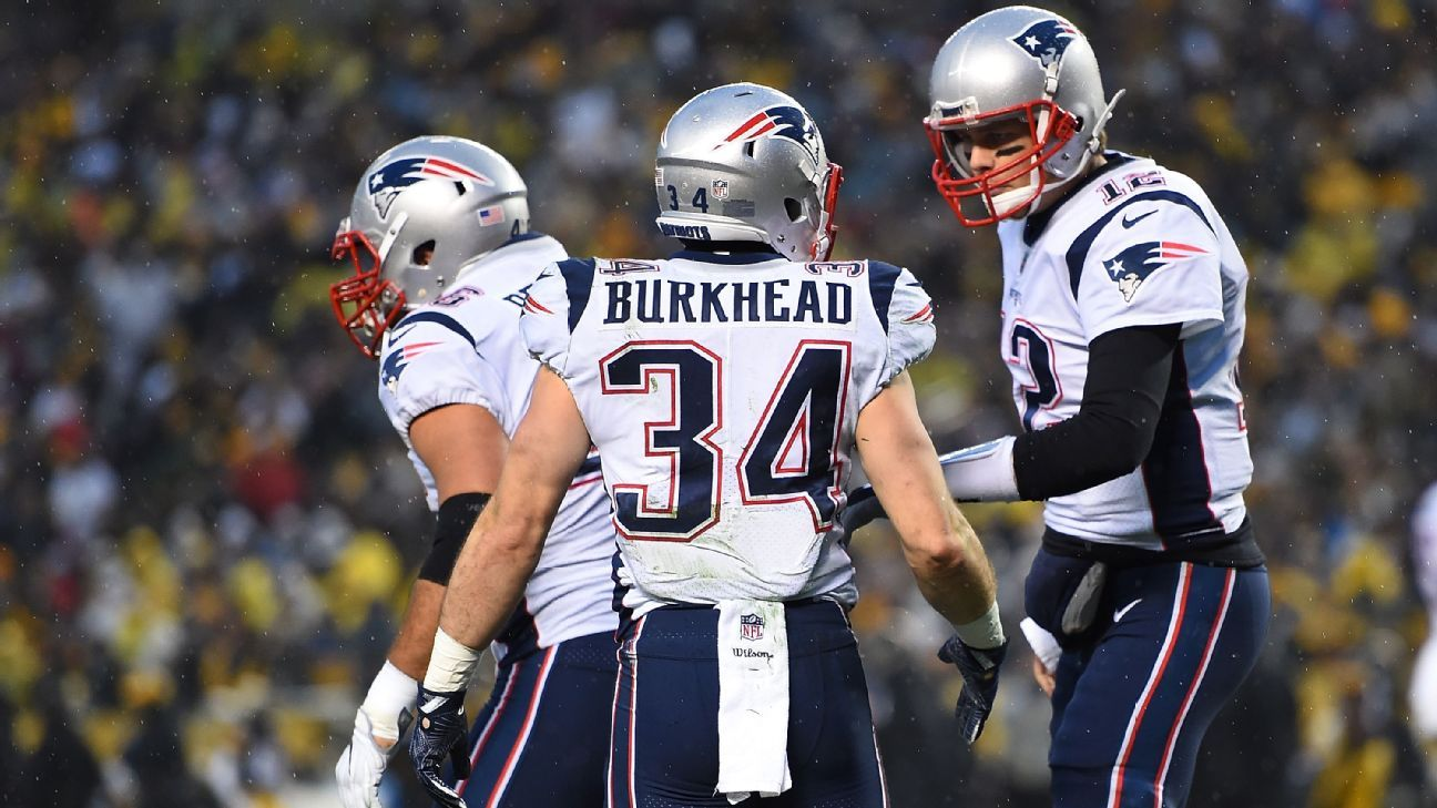 new england patriots rb rex burkhead ruled out with knee injury