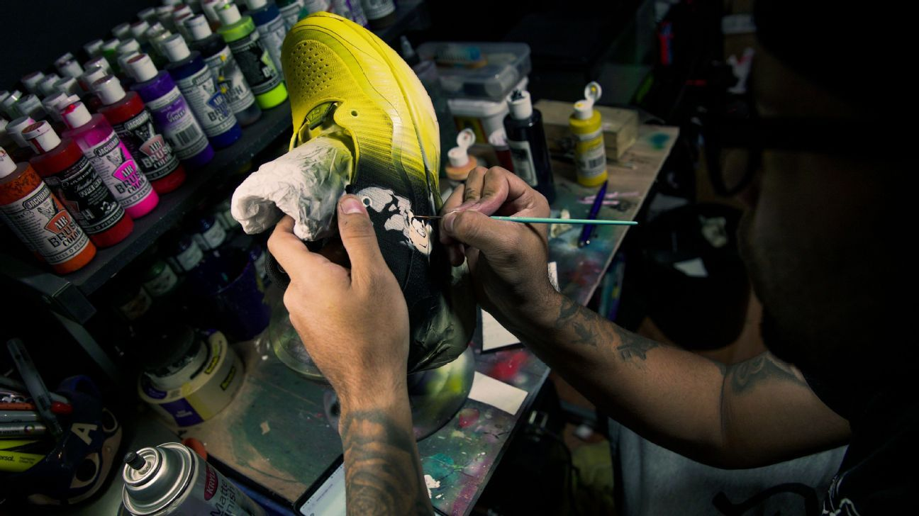 faf9d79a585 Meet the artist behind the NBA's coolest custom Christmas sneakers