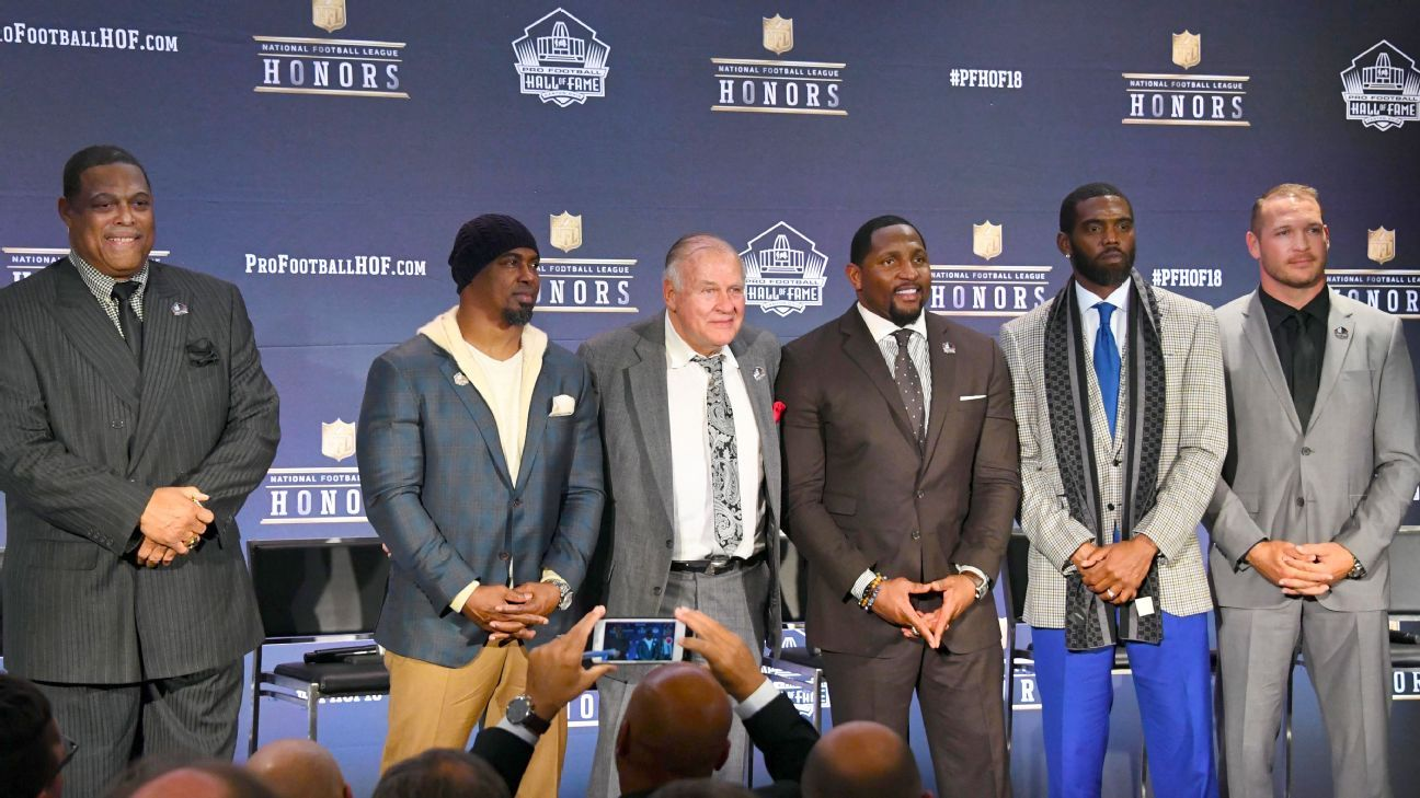 pro football hall of fame class of 2018 includes ray lewis, randy