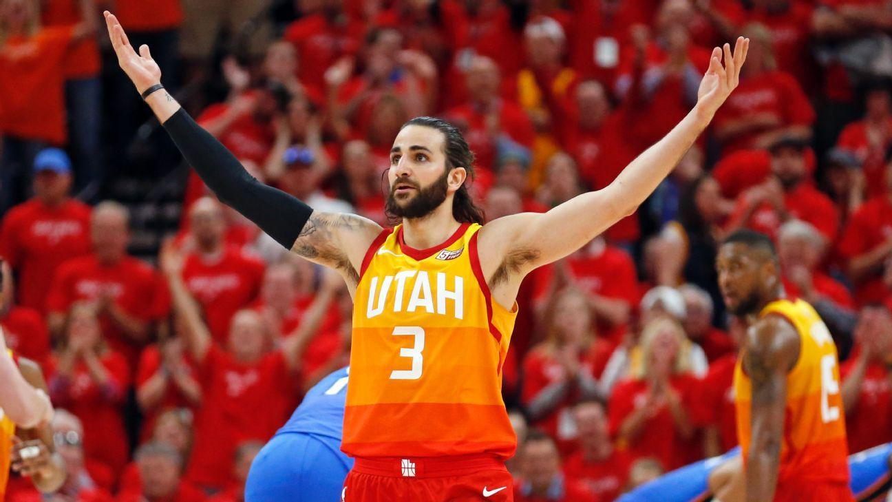 eb8ea3e950b Utah Jazz take 2-1 series lead over Oklahoma City Thunder behind Ricky  Rubio s triple double