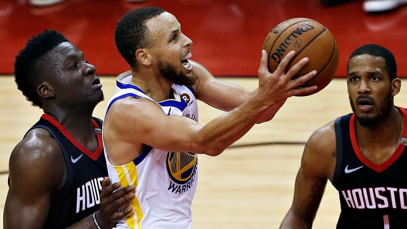 f68a760def90 Golden State Warriors return to NBA Finals as Houston Rockets go ice-cold  in Game 7