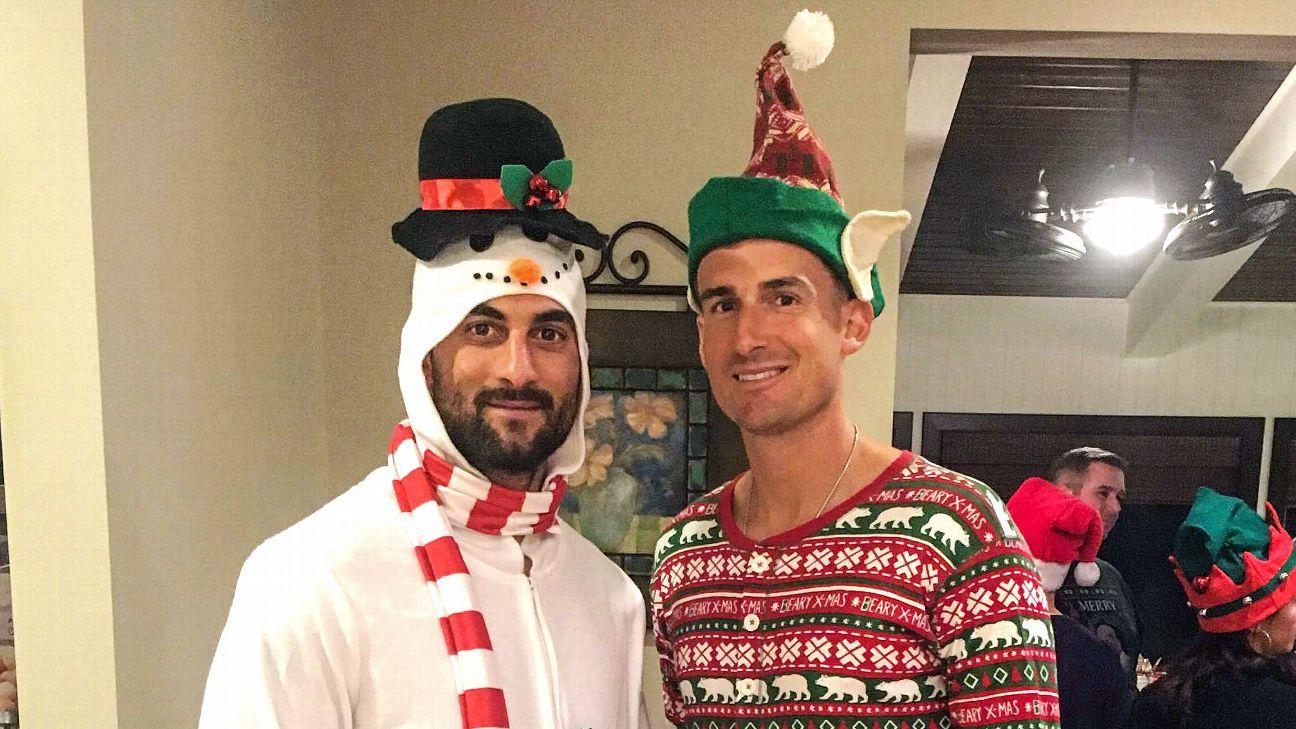 Atlanta Braves brothers-in-law Nick Markakis, Ryan