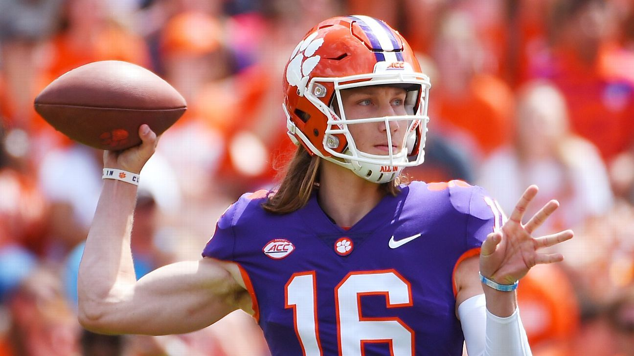 Clemson Tigers Quarterback Battle Trevor Lawrence Kelly Bryant