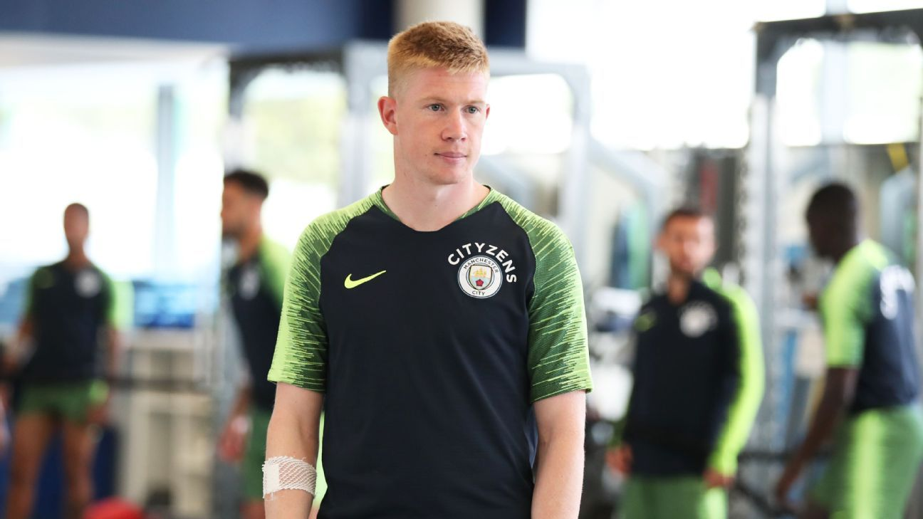 official photos 9c813 8e81d Manchester City's Kevin De Bruyne facing up to three months ...