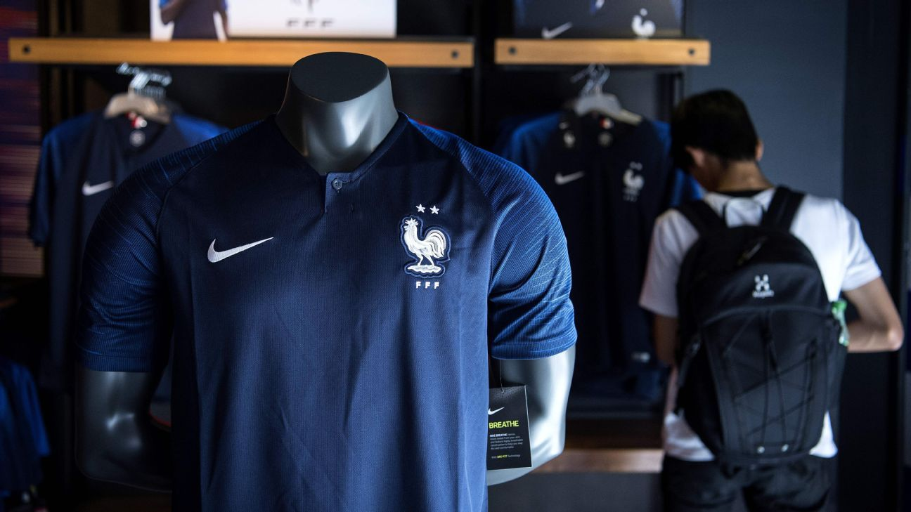France fans flock to get new shirt with two World Cup winners  stars d15d71b6a