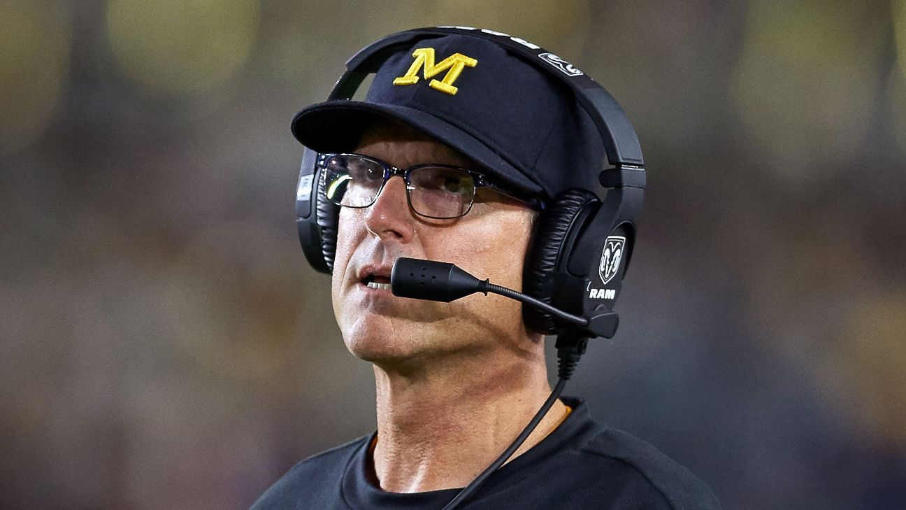 Jim Harbaugh is taking Michigan's football team to South Africa in May.