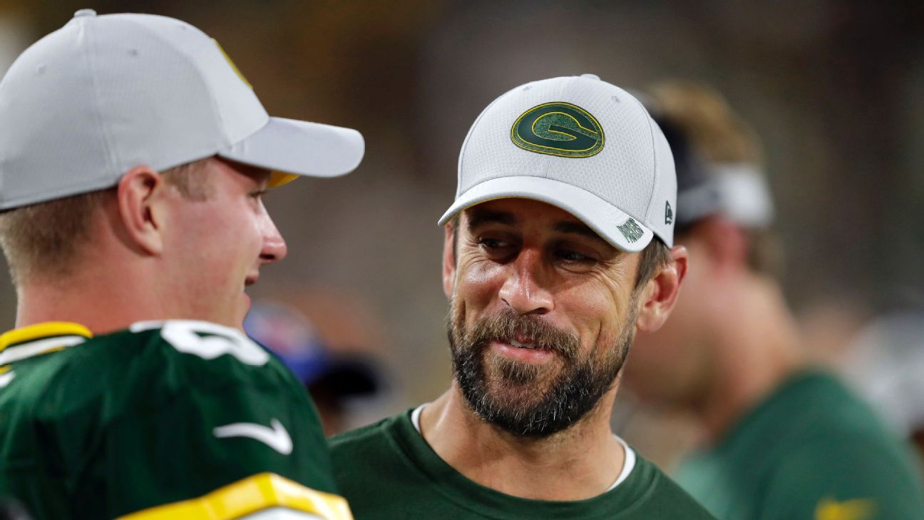 Packers  rookie QB Tim Boyle buys his own Aaron Rodgers jersey - NFL  Nation- ESPN a126e203d
