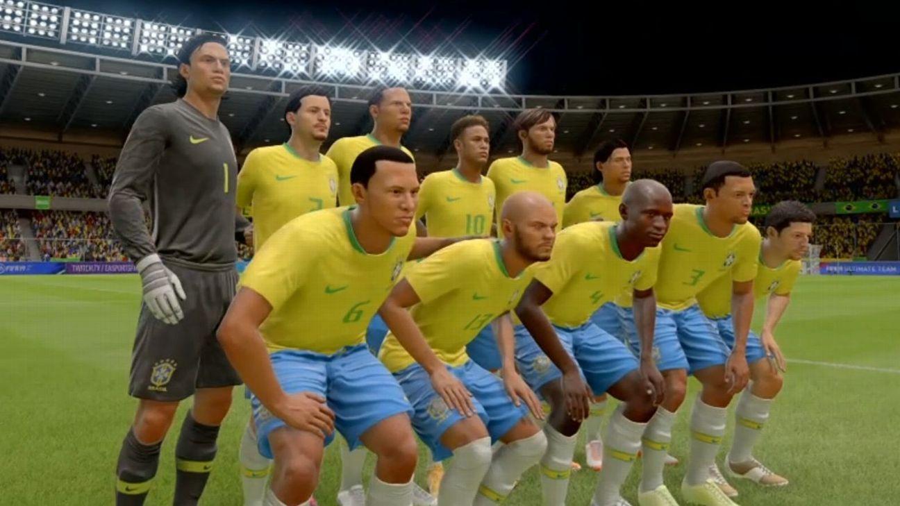 Nada de Seleção Brasileira nos games  FIFA 19 e PES 2019 têm escalação  genérica 32ac95b18002a