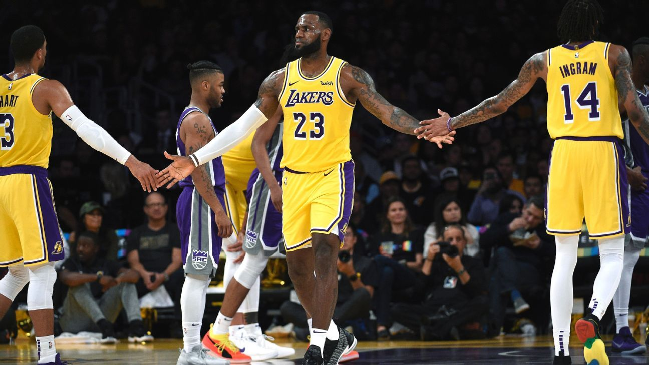 c348b2f57af1 LeBron James of Los Angeles Lakers calls Brandon Ingram  special talent