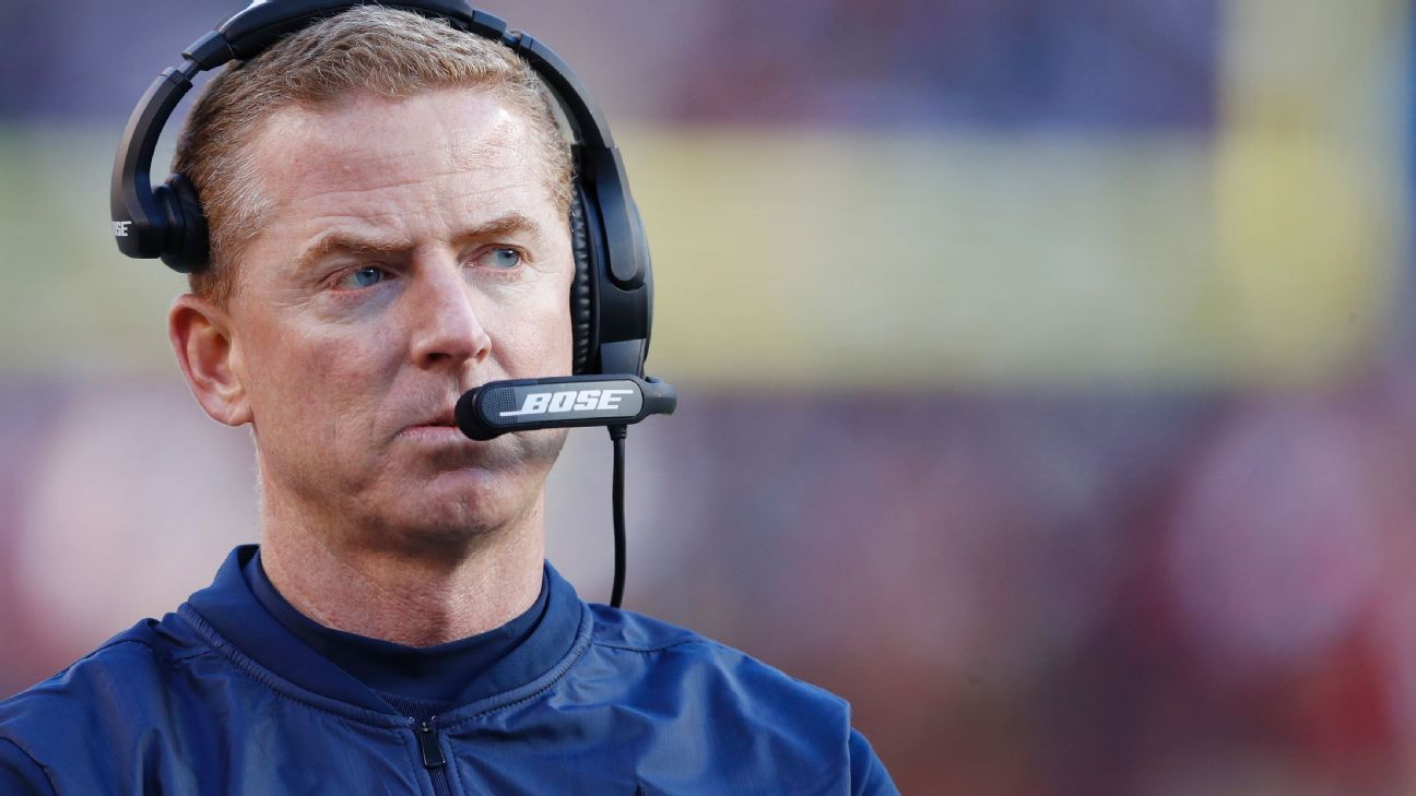Jason Garrett, a former backup quarterback for Dallas, has more former players on his staff than any team in the league.