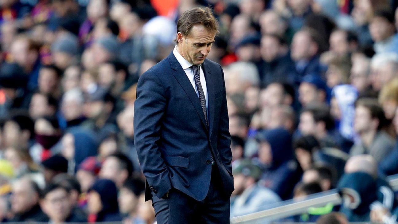 Real Madrid's Julen Lopetegui 'sad' after Barcelona loss, but has ...