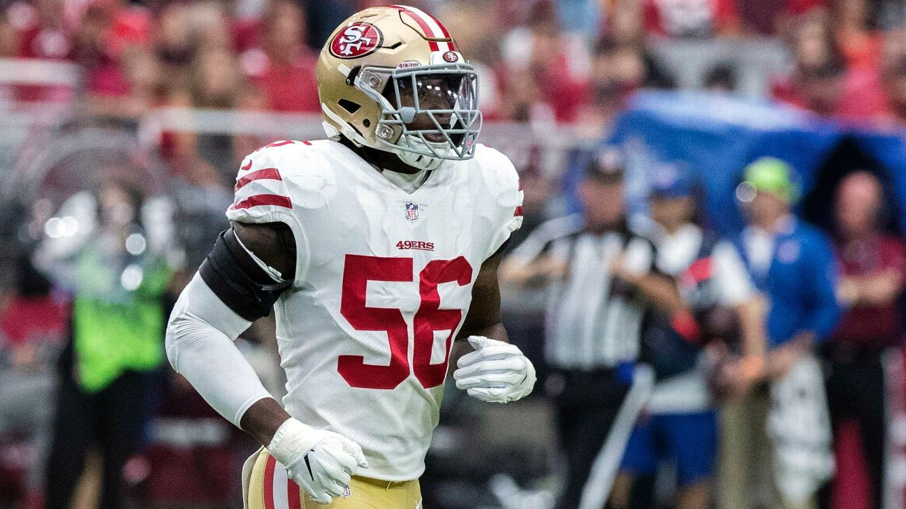 The NFL announced that Redskins linebacker Reuben Foster won't be suspended but will receive a fine the equivalent of two game checks.