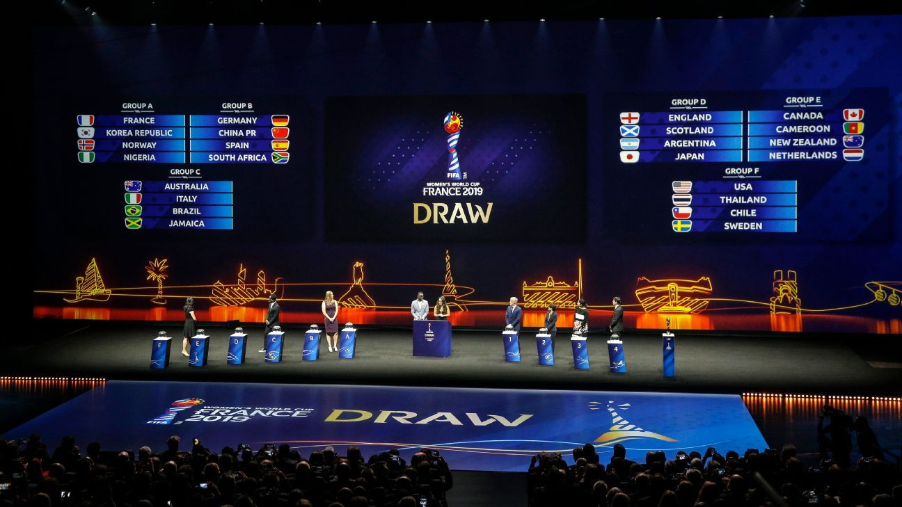 Women's World Cup: Favorable draw for U.S.