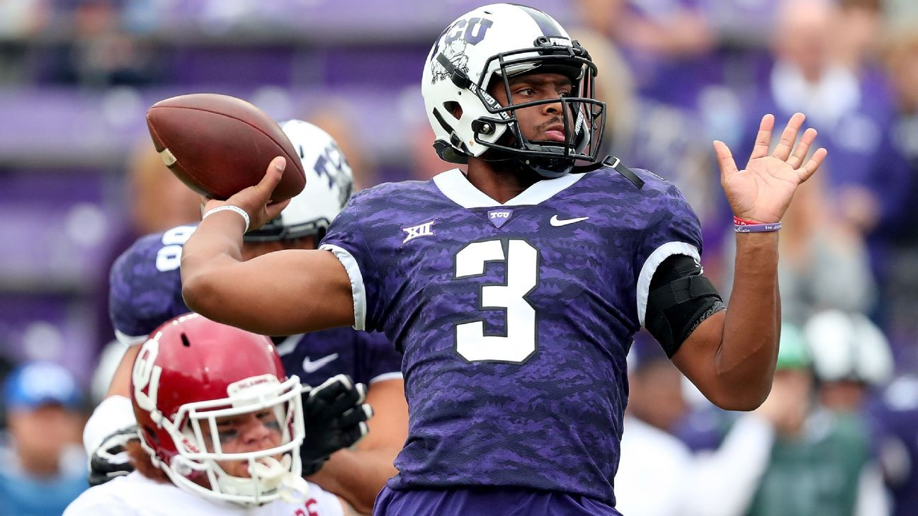 Qb Shawn Robinson Of Tcu Horned Frogs Planning To Transfer