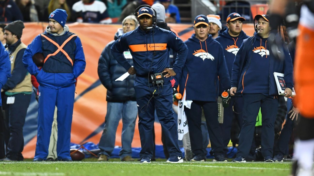 57b7f38223a025 Denver Broncos coach Vance Joseph defends kicking field goal on  fourth-and-1 vs. Cleveland Browns --  I wanted points there