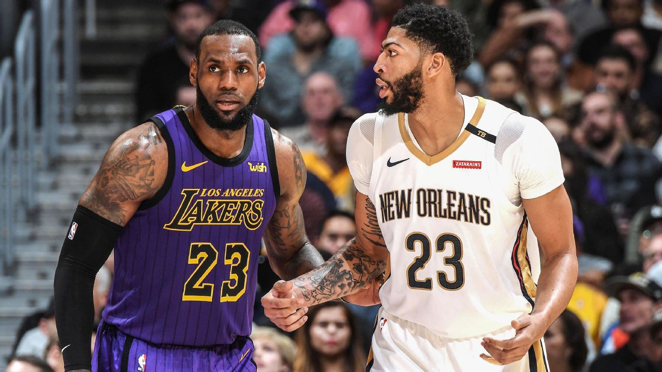 f73e0249ba600 LeBron James of Los Angeles Lakers defends his Anthony Davis comments