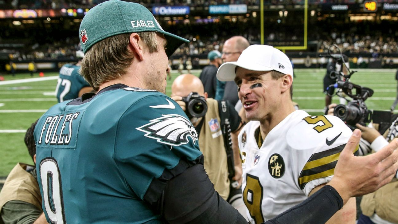 buy online 0e2e5 1648d Chaps for life: Brees and Foles share more than high school ...