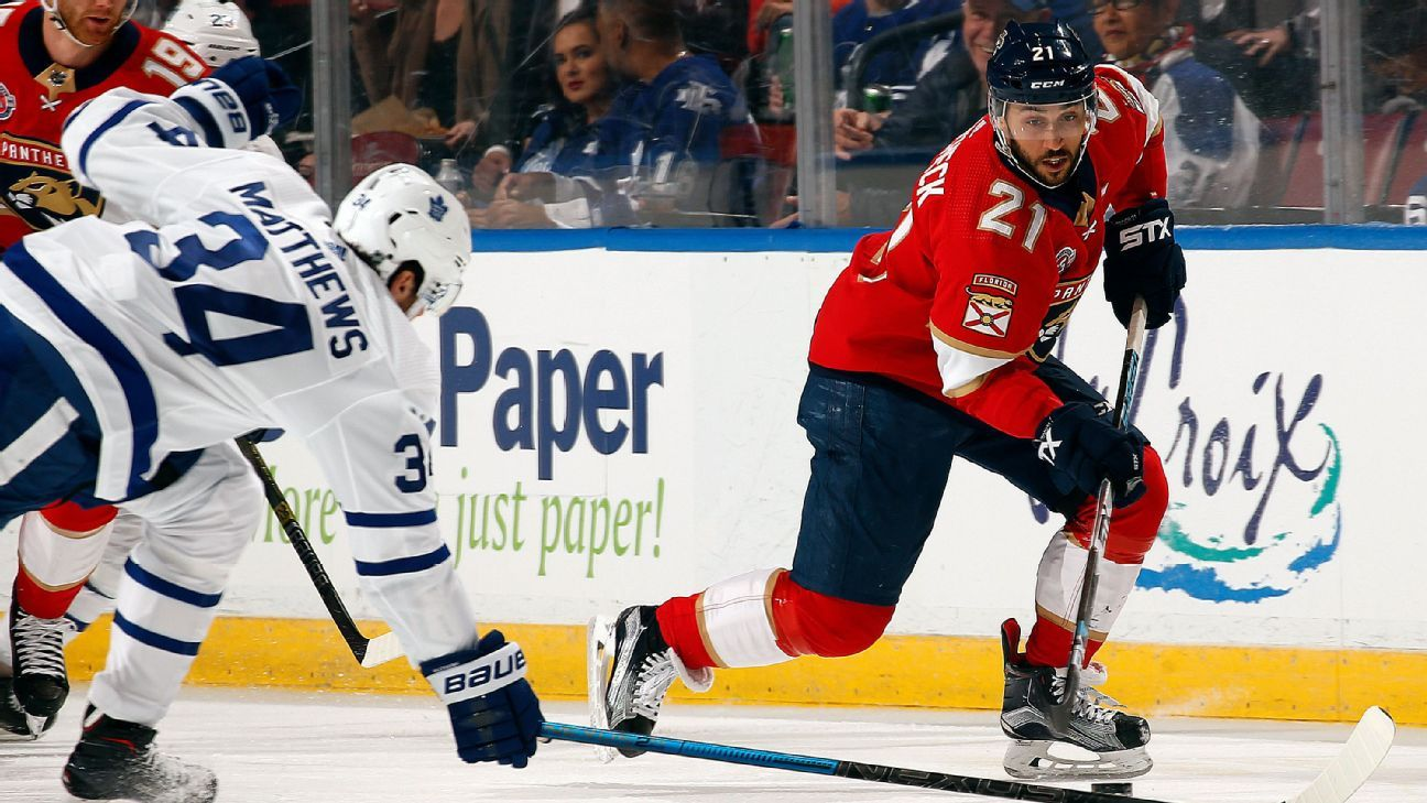 d83d89d0536 Vincent Trocheck returns early for Florida Panthers