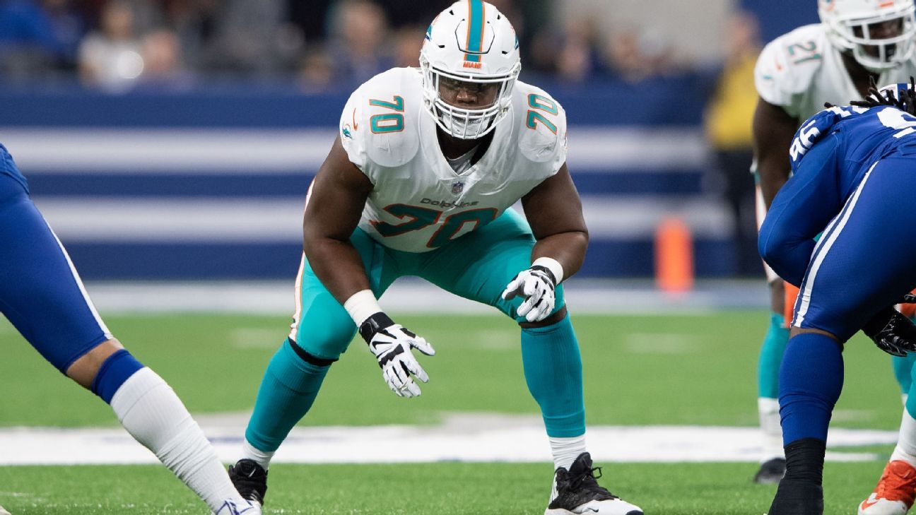 The Denver Broncos have agreed to a deal with former Miami Dolphins right tackle Ja'Wuan James for four years, $51 million.