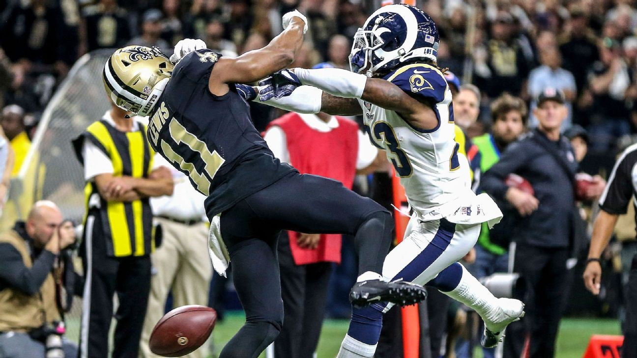 66c9a4441510 NFL world reacts to blown interference call during Rams-Saints game - NFL  Nation- ESPN