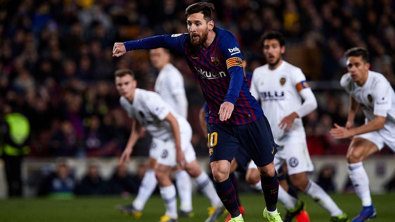 Messi marca duas vezes e arranca empate para o Barcelona diante do Valencia 7ecde8bbc99f4