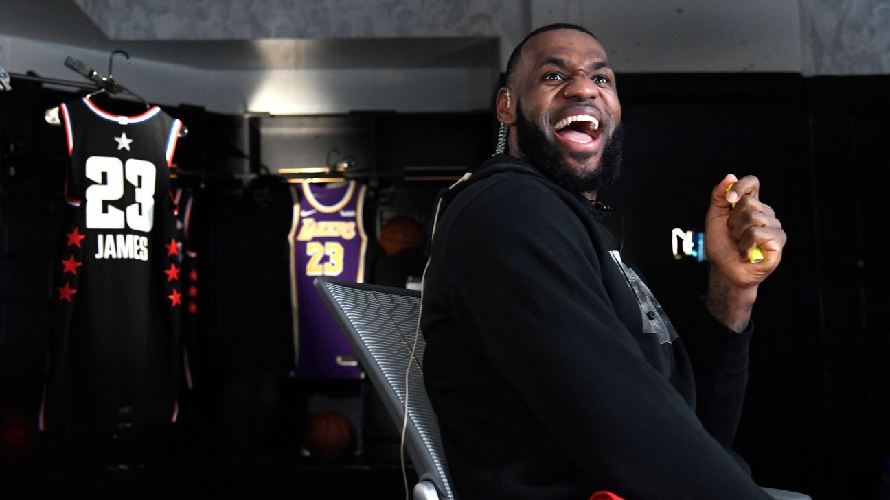961d11754 NBA All-Star Game 2019 - Best moments from the All-Star draft between LeBron  and Giannis