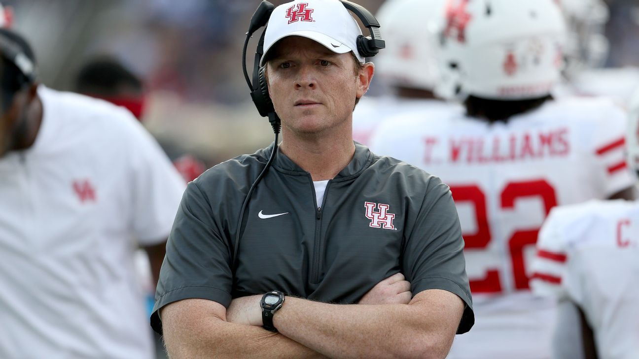 Major Applewhite, who was fired as Houston's football head coach in December, is joining Alabama's staff as an analyst, a source confirmed to ESPN.
