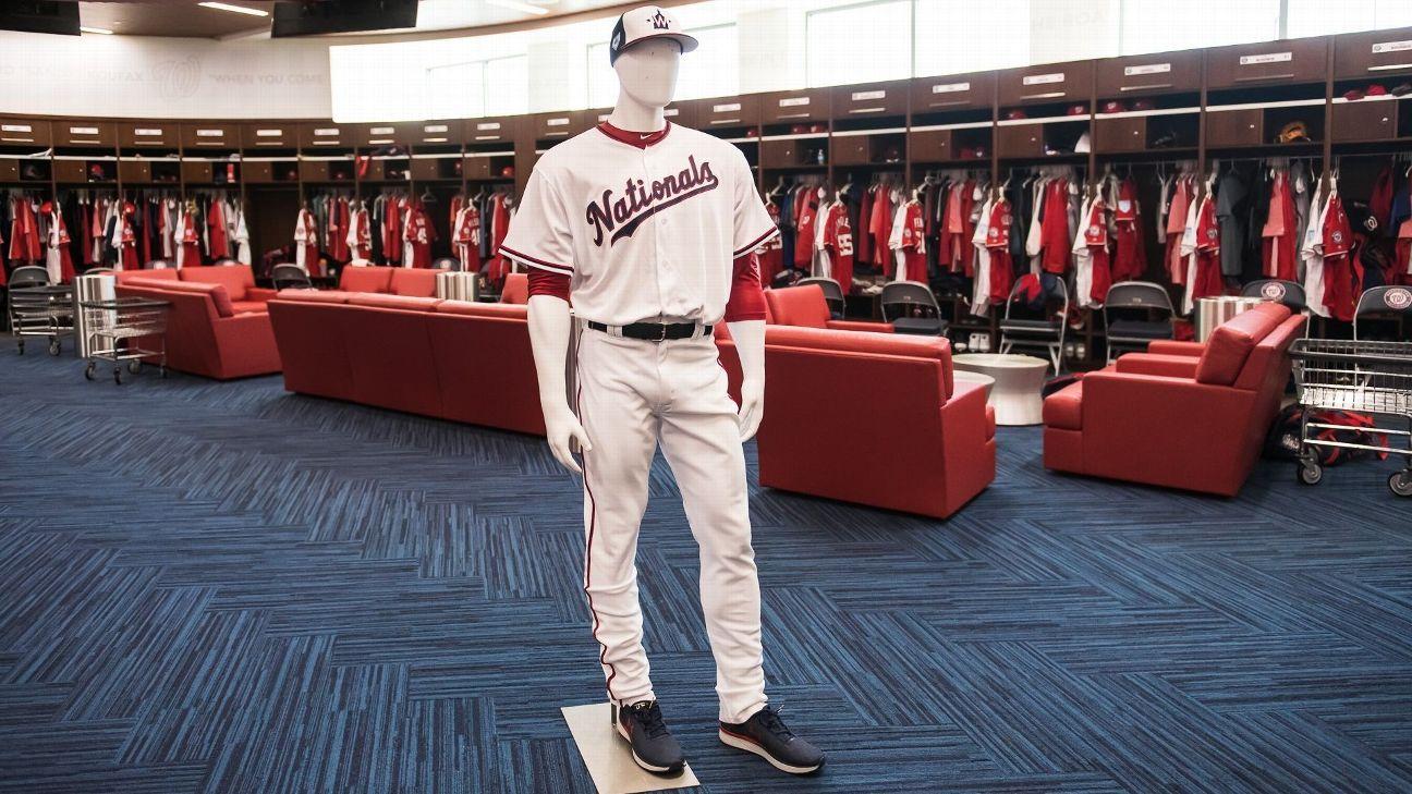 Meet the man(nequin) keeping Nats' endless uniform combos straight