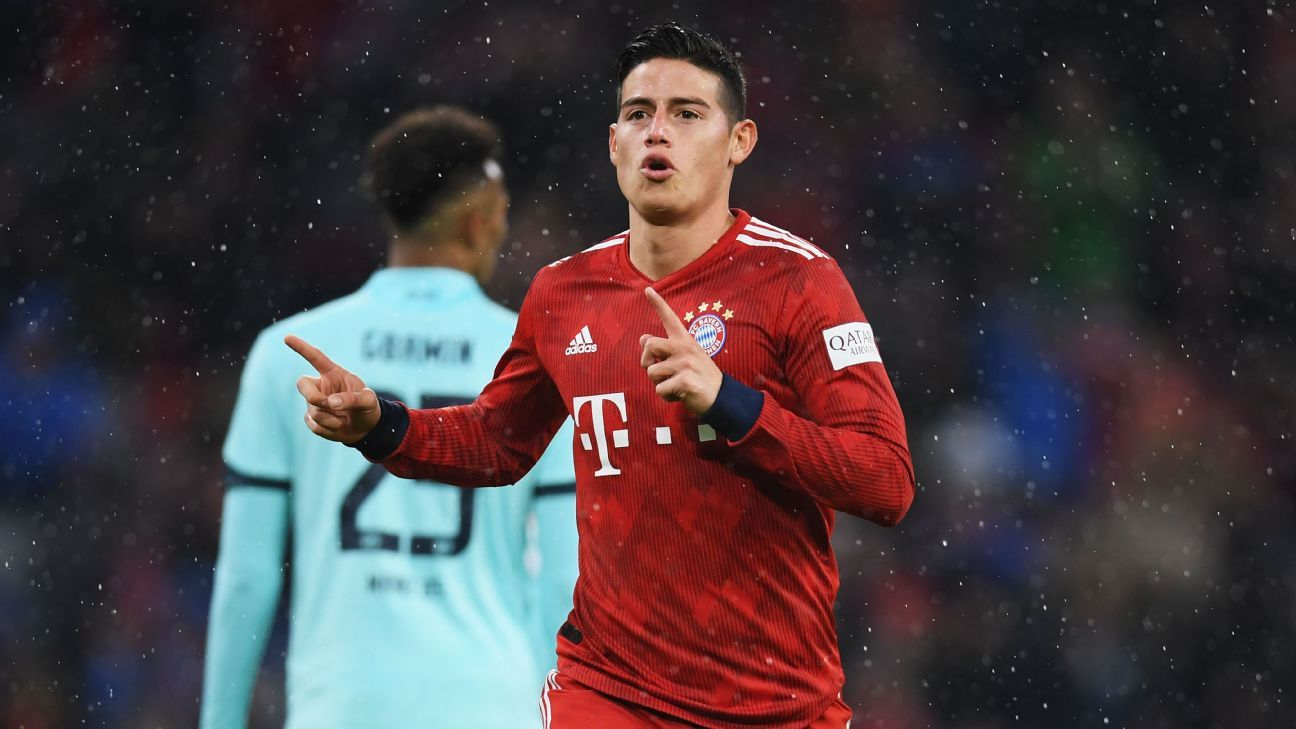 67c670302bf Reports: Bayern's James Rodriguez earns Spanish citizenship