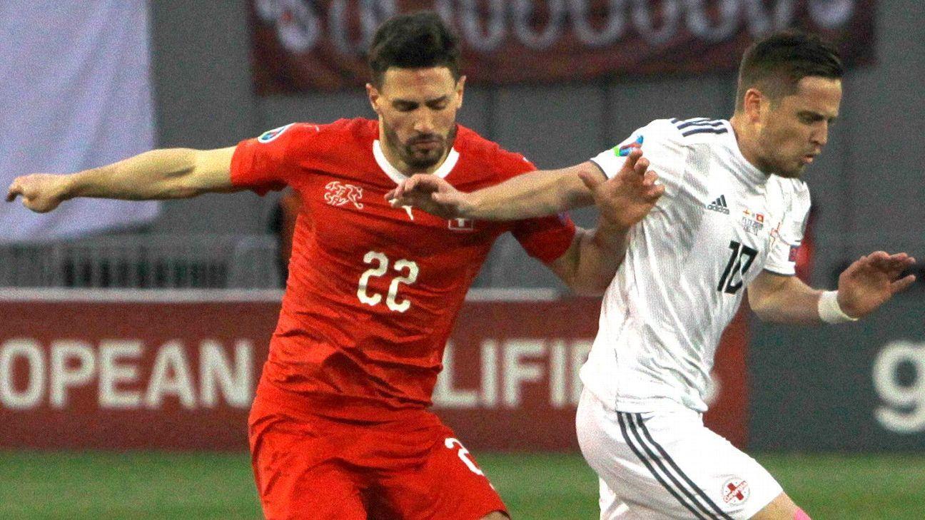 Switzerland Drop Fabian Schar After Playing Through Head Injury Vs Georgia
