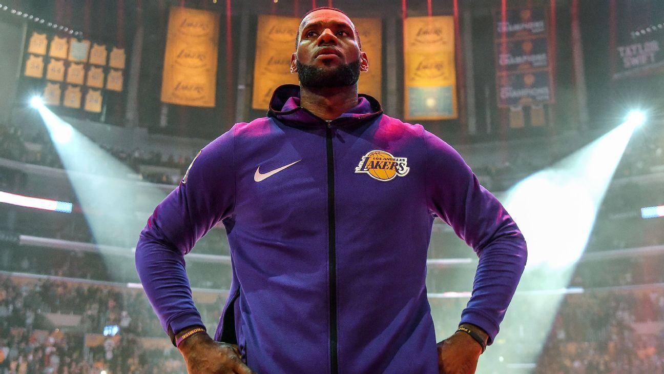 best website 42540 af645 LeBron to miss last six games of Lakers season