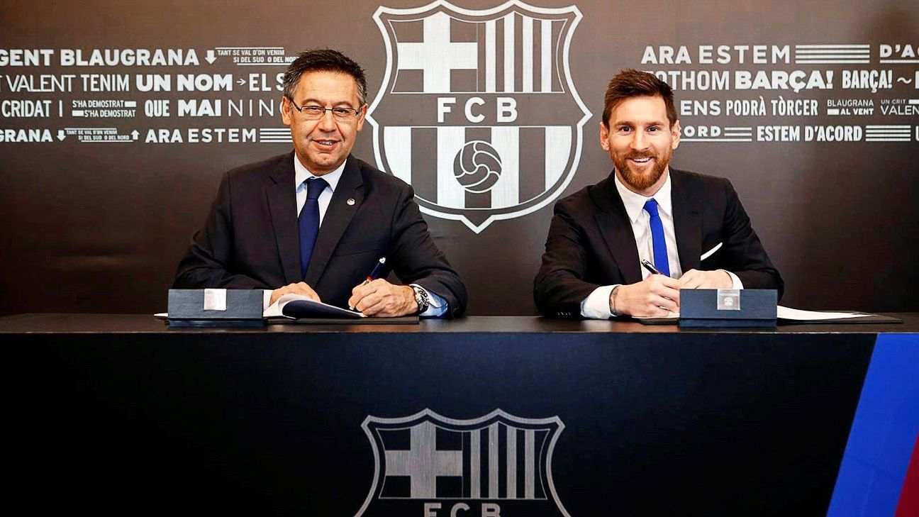 Barcelona president Bartomeu wants to keep Messi with club 'forever'